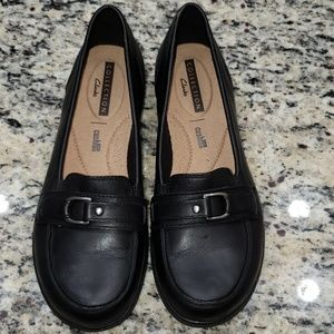 Clarks Cheyn Marie Black Slip-on Loafers Size 7M